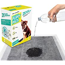 K9KONNECTION Large Pet Training Puppy Pee Pads - 100 Count Box - 23 by 24 inches - Quick Drying Black Carbon Gel with No Odor and Leak Proof Design (Regular)