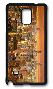 MOKSHOP Adorable chicago night city view Hard Case Protective Shell Cell Phone Cover For Samsung Galaxy Note 4 - PCB