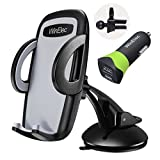 Car Phone Holder, 27W/5.4A Car Charger and Air Vent Dashboard Car Mount with 360° Rotation for iPhone X 8 8 Plus 7 7 Plus SE 6s 6 Plus, Galaxy S8 S7 S6, Pixel, Nexus and More,WinElec