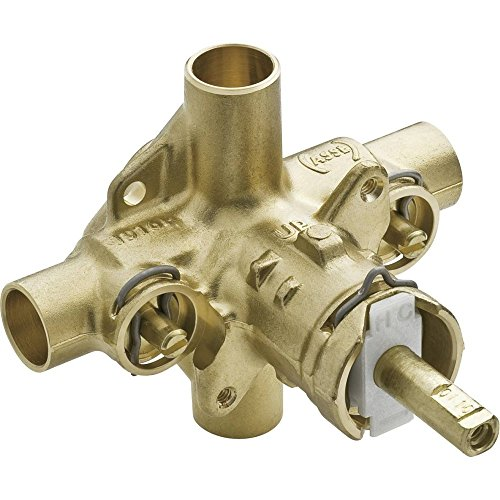 Moen 2570 Rough-In PosiTemp Pressure Balancing Cycling Shower Valve with Stops, 1/2-Inch CC