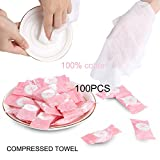 Compressed Towel Tablets Portable Mini Coin Tissue Disposable Cotton Towel for Home Travel Sports Camping Outdoor(100PCS)
