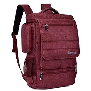 18.4 Inch Laptop Backpack,SOCKO Multifunctional Unisex Luggage & Travel Bags Knapsack Rucksack Backpack Hiking Bag Student Shoulder Backpacks Fits 18 to 18.4 Inch Laptop / Notebook Computer,Red