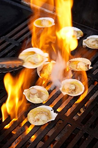 amazon com scallops on barbeque poster print by david wall 23 x 34
