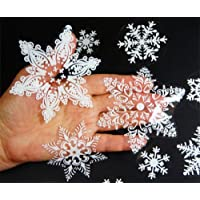 Reusable White Snowflakes Window Stickers SELF CLINGS Decorations