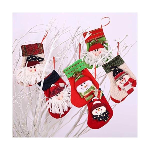 MMTX Calze di Natale Decorazioni Calzini Decor per Camino Set 6 Decorazioni Natalizie Camino da Appendere Candy Sacchetti Regalo per Albero di Natale Festa di Natale Decorazioni 7 spesavip
