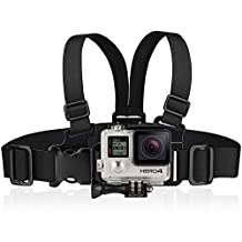 Chest Mount for Go Pro, Fosmon Front Adjustable Junior Kids Chest Strap Mount for GoPro Original HD Hero 1 / 2 / 3 / 3 Plus / 4 / 5 (Black, Silver and Session)