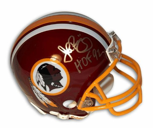 Autographed John Riggins Washington Redskins HOF Riddell Replica Mini Helmet - Certified Authentic Signature by...