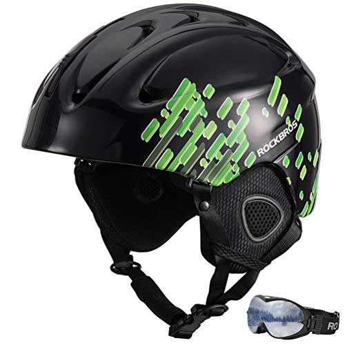 RockBros Ski Helmet Men, Snowboard Helmet Skate Helmet with Ski Goggles Winter Snow Sports Helmet for Snowboarding Skating Snowmobile Roller Skate - Classic Mens Snowboard Helmet