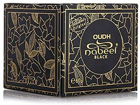 Oudh Black 60g Agarwood Bakhoor Incense By Nabeel Beauty
