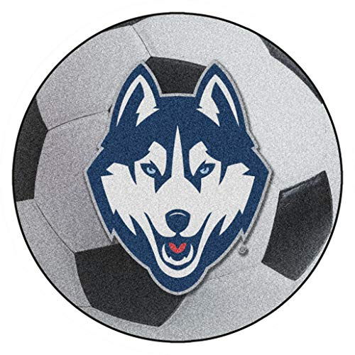 FANMATS NCAA University of Connecticut  Huskies Nylon Face Soccer Ball Rug ()