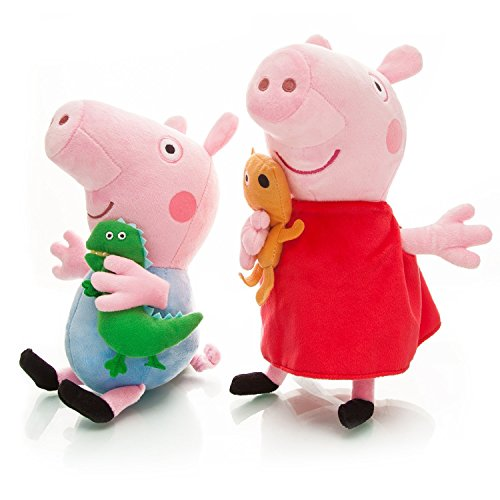 8' Doll Stuffed Plush Toy (OliaDesign Peppa Piggy Plush Doll for Kids Gift (2 Piece), 8')