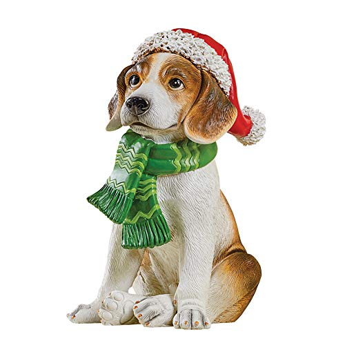 Collections Etc Cute Winter Dressed Dog Statue - Outdoor or Indoor Display