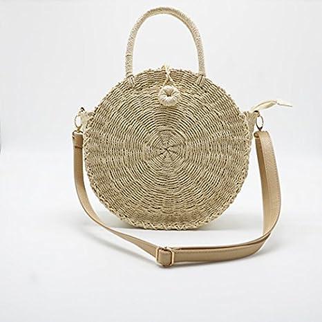 685419c4a483 Amazon.com : Lelinsy Women Handmade Round Beach Shoulder Bag Bali ...