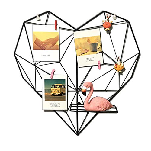 Laugh Cat Creative Heart Shape Iron Grid Photo Wall Picture