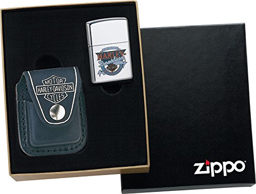 (Zippo Harley Leather Pouch)