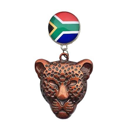 3D Sudáfrica Leopardo Aleación de Metal Imán de Refrigerador ...