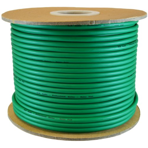 (GLS AUDIO Bulk Microphone Cable 300' Green Mic -300ft Signal mike cable)