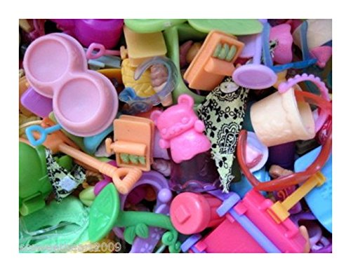 New Littlest Pet Shop LPS 10 PC SMALL ACCESSORIES GRAB BAG Random Lot Food Clothes from Unbranded