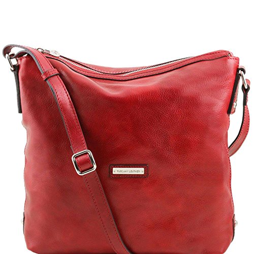 Tuscany Leather - Alice - Sac cabas en cuir pour femme - Rouge