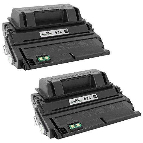 Speedy Inks - 2PK Compatible Replacement for HP 42A Q5942A Black Laser Toner for HP LaserJet 4250, 4250dtn, 4250tn, 4250n, 4250dtnsl, 4350, 4350dtn, 4350dtnsl, 4350n, 4350tn, 4240, (42a Laserjet)