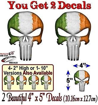 2 2 Punisher Ireland 5 Vinyl Graphic Decals Stickers American Sniper Irish Skull Sticker 4x 5 Decals