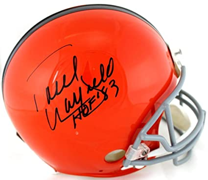 b1b63d6e9 Paul Warfield Signed Cleveland Browns Riddell Throwback Authentic NFL  Helmet With quot HOF 83 quot  Inscription