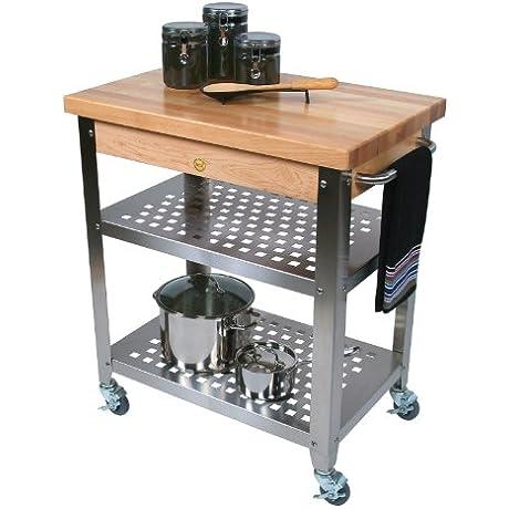 John Boos Co Cucina Rosato Kitchen Cart Cucr3020