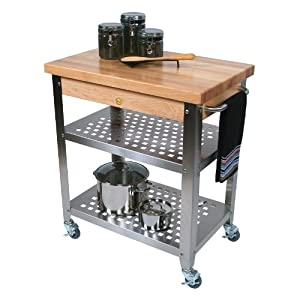 Amazon.com: John Boos Co. Cucina Rosato Kitchen Cart #Cucr3020 ...