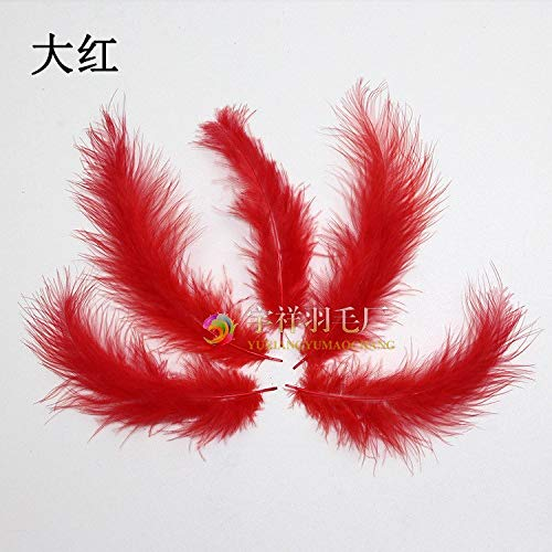 (Cream White - 100pcs Bag Dyed Nature Pheasant Saddle Feather Hair Fly Tying Hackle Material Ginger Blue Cream - Yarn Carpet Tables Eyeliner Cover Pillows Area Leather Lotion Stand Thai Scarf Car)