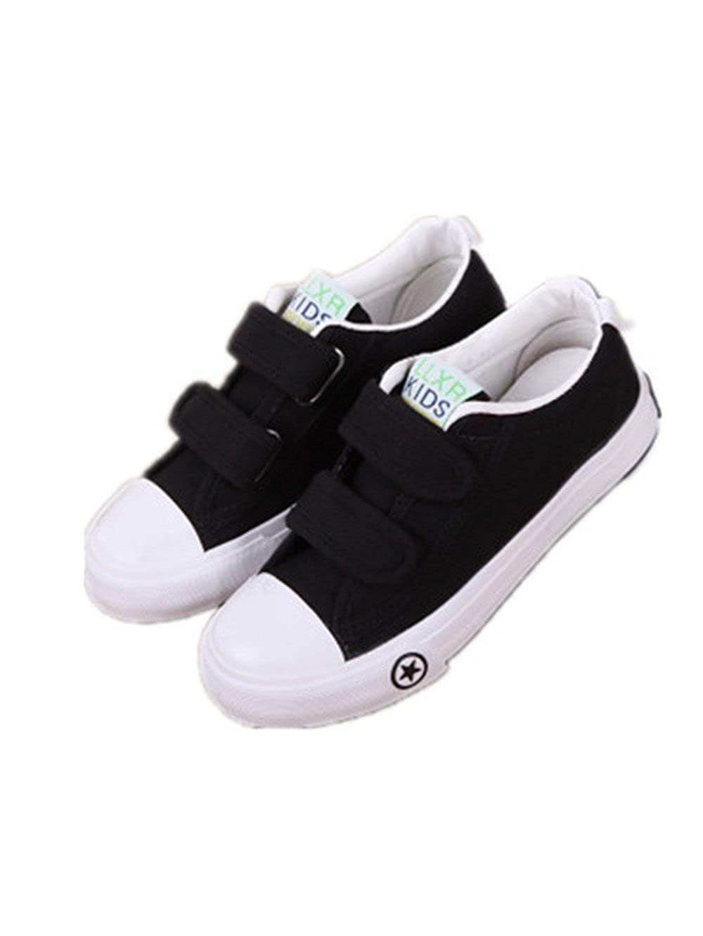 Canvas Prewalker Sneakers Soft Rubber Sole Shoes for Toddlers Boys Girls