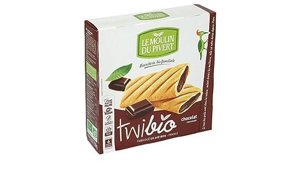 Amazon.com: Le Moulin Du Pivert Organic Twibio Chocolate 150 g (Pack of 12): Health & Personal Care