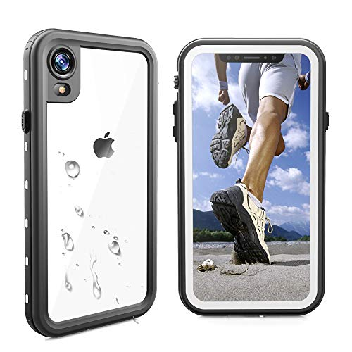 iPhone XR Waterproof Case,Sydixon iPhone XR Case,Full-Body IP68 Certified Waterproof Case with Built-in Screen Protector for iPhone XR Case,Dustproof Shockproof Snowproof (White+Transparent Cover)