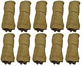 Jute leaf sacks pack of 10