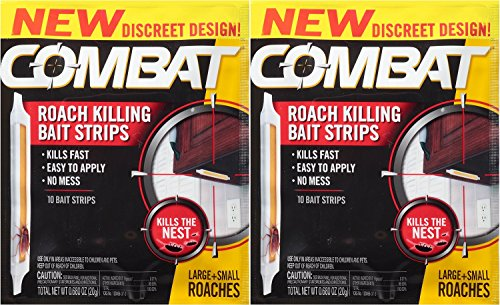 - Combat Roach Killing Bait Strips, 10 Count (Pack of 2)