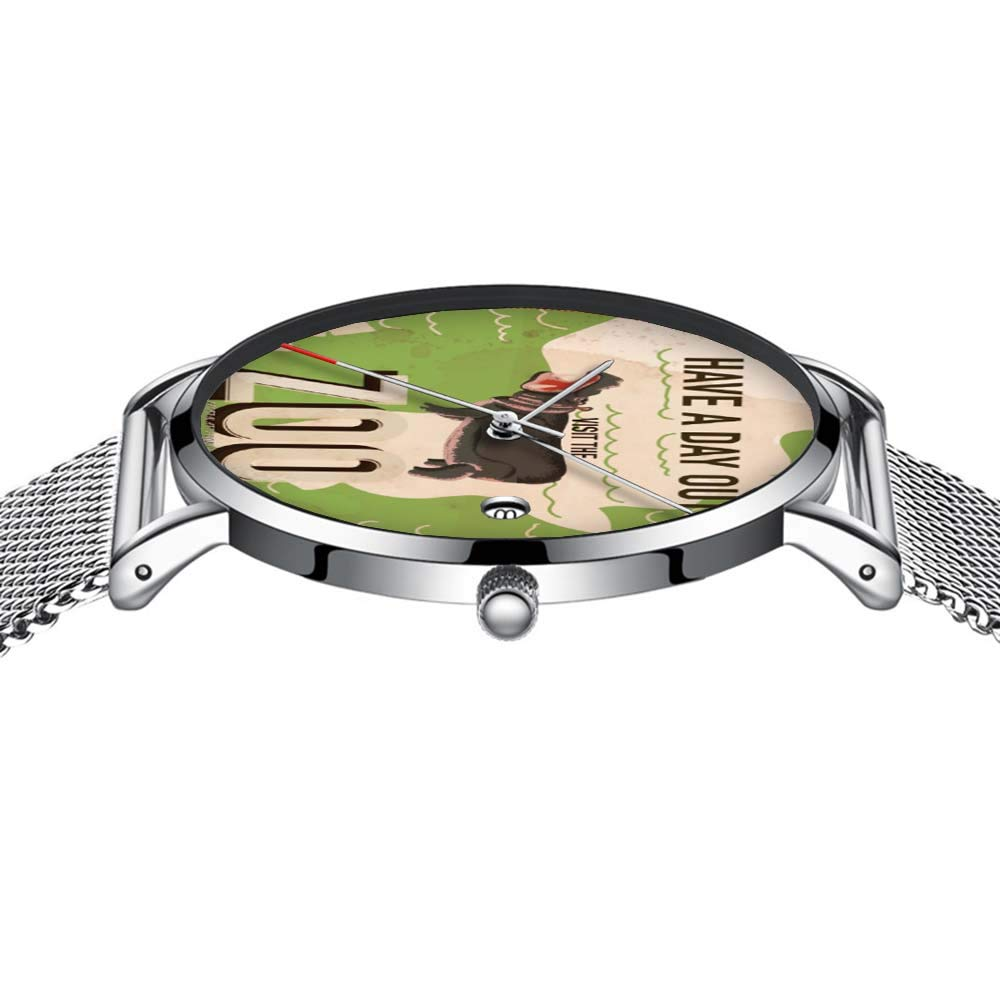 Amazon.com: Reloj de pulsera ultradelgado minimalista e ...