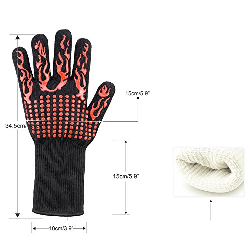 INHDBOX Oven Mitts and Pot Holders Set /& Kitchen Cotton Towels,Heat Resistant Gloves with Cotton Terry Lining,Dual-Function Pot Holder with Pocket,8 Pack Gray