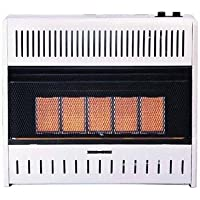 Procom Ml250tpa Vent-free Lp Gas Wall Heater, 5 Plaque, 25,000 Btu