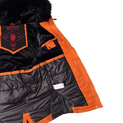 Orange Parka B372 Caldo Marikoo Da Invernale Giaccone Donna w7xBI0