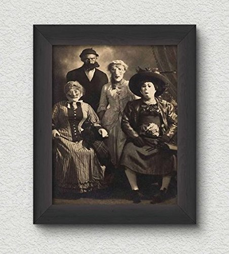 Creepy Group Photo Vintage Art Print - 8x10 Wall Art - Halloween Decor