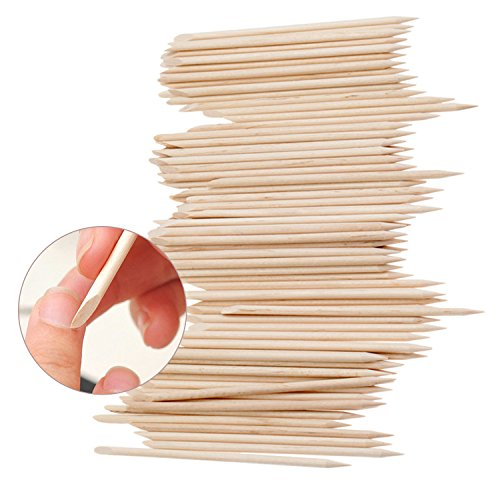 Best Value Set of 100pcs Manicure And Nail Art Tools With Nailart Orange Wooden Sticks / Cuticle Pushers / Removers By VAGA