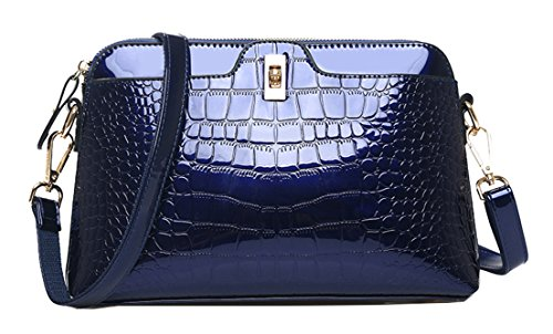 Pattern Seaoeey Handbags Diagonal Fashion Women's Wine Blue Crocodile Bag Shoulder Tote Red Shell wrqRrt