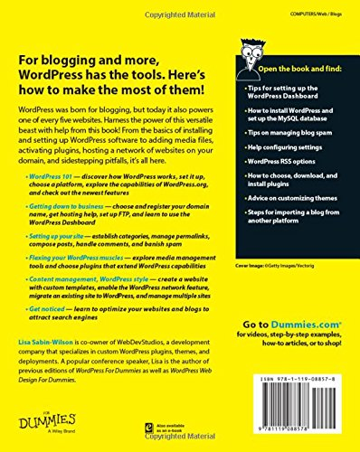 Wordpress For Dummies Amazon Co Uk Lisa Sabin Wilson