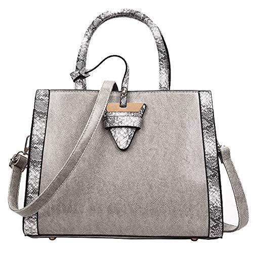 Lightgray Bags Bags Casual Tote Black AalarDom Women's Crossbody Pu TSDBG209340 Awzx6Zq