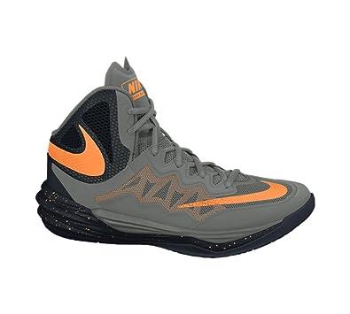 Nike Mens Basketball Shoes Grey/Black/Bright Citrus
