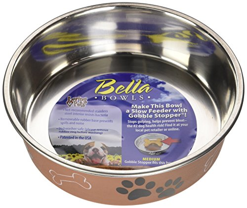 Loving Pets Metallic Bella Bowl, Medium, Copper