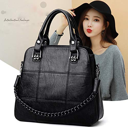 Chain Handbag Ladies Casual Large Mother 2018 hlh Negro Bag Fashion Capacity rosado Messenger Shoulder Hasageis Bag qwF8YT