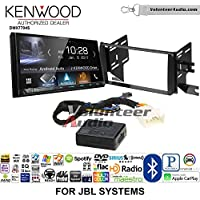 Volunteer Audio Kenwood DMX7704S Double Din Radio Install Kit with Apple CarPlay Android Auto Bluetooth Fits 2007-2014 Toyota FJ Cruiser with Amplified System