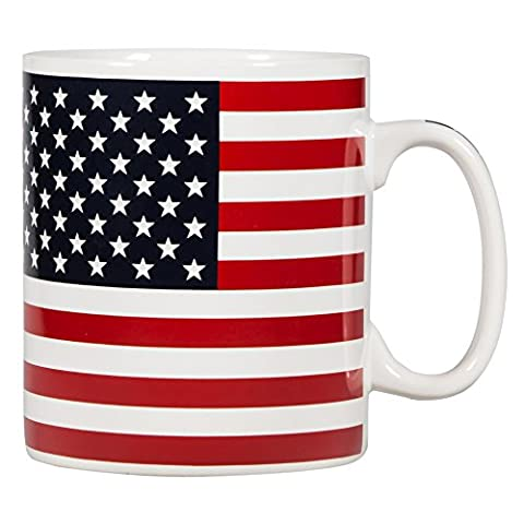 Giant White Mug With American Flag 30 Oz Patriotic Ceramic Tea And Coffee Drinking Cup With Handle Best Award Trophy Novelties Funny Desk Accessory Home Décor Supplies