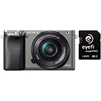 Sony Alpha a6000 Mirrorless Digital Camera w/ 16-50mm Lens, EyeFi MobiPro 32GB Card - Graphite
