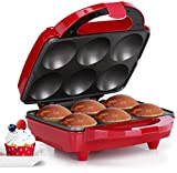 Holstein Housewares HF-09013R Full Size Fun Cupcake Maker, Makes 6, Red/Stainless Steel